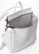 Кожаный белый рюкзак POOLPARTY Venice, фото 3