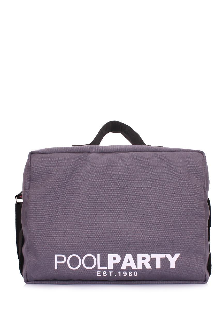 Коттоновая сумка POOLPARTY с ремнем на плечо