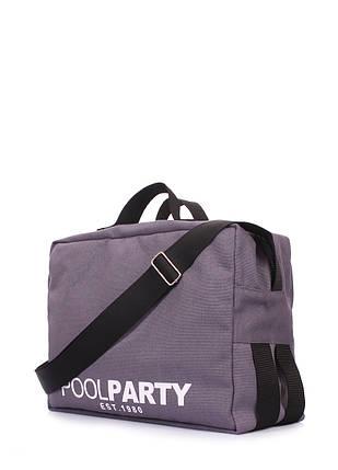 Коттоновая сумка POOLPARTY с ремнем на плечо, фото 2
