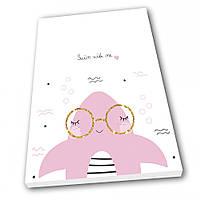 Картина на холсте в детскую Kronos Top Swim with me 60 х 80 см (lfp_1109258822_6080)