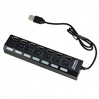 USB Hub хаб 7 портов с переключателями, A413