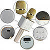 Безпровідний мікрофон караоке в чохлі Bluetooth Q7 золотий, фото 6