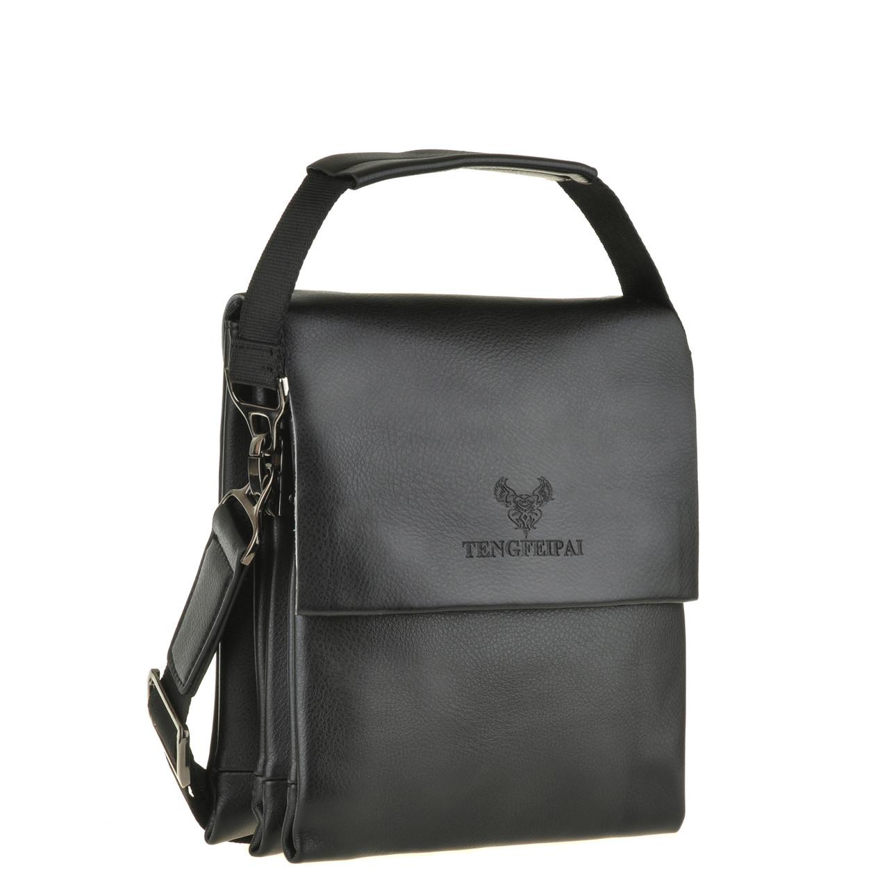 Мужская сумка вертикальная TENGFEIPAI кожаная 22х25х9  ксА6001-2