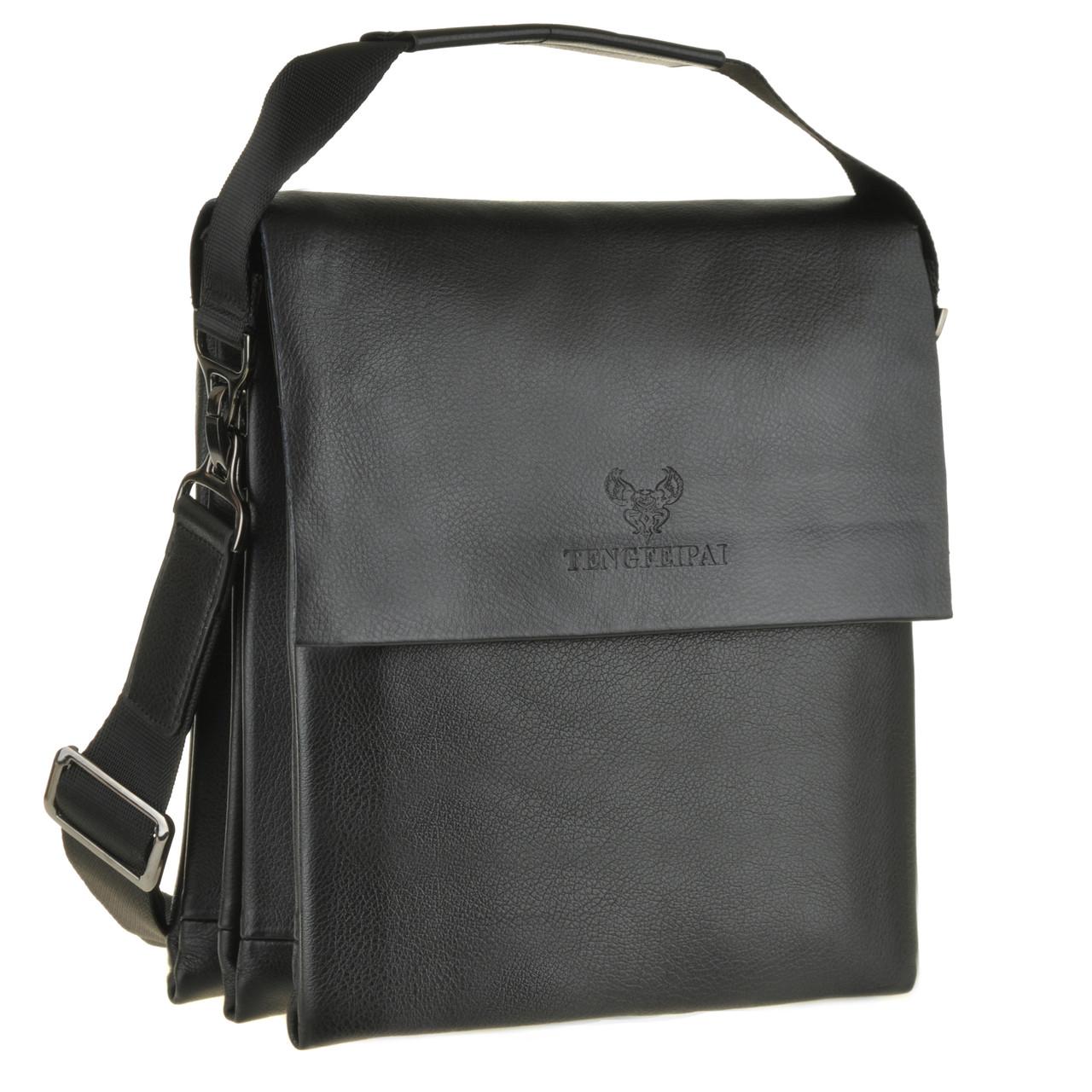 Мужская сумка кожаная TENGFEIPAI вертикальная  23х27х9  ксА6001-3