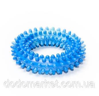 Резиновая игрушка для собак кольцо шипованное с ароматом ванили 12 см