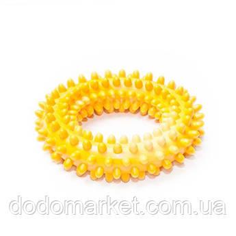 Резиновая игрушка для собак кольцо шипованное с ароматом ванили 10 см