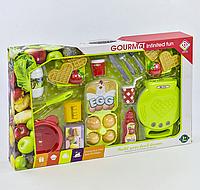 Вафельница BQ 804 A с продуктами, свет, звук