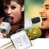 Беспроводной Bluetooth микрофон караоке Q9 розовый, фото 4