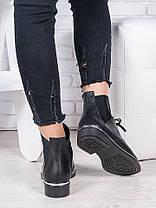 Ботинки кожаные черные Элиза 6948-28, фото 3