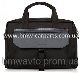 Дорожная сумка Land Rover Nylon And Leather Briefcase - Black 2018