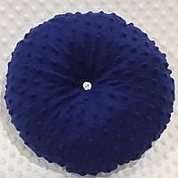 Декоративна подушка синього кольору