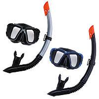 Набор для плавания 24021, маска,трубка,регулир.ремешок,2 цвета