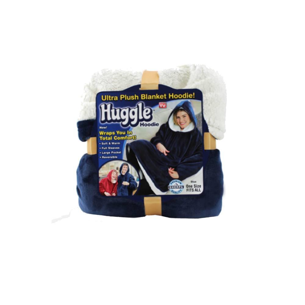 Толстовка-плед с капюшоном HUGGLE HOODIE, двухсторонняя толстовка - халат с капюшоном
