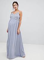 Нарядное платье макси на бретелях для беременной Chi Chi London