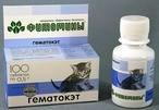 """Фитомины, ГематоКет для кошек, ( уп. 100 таб. ) ООО""""Веда», Россия."""