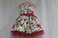 """Нарядное платье на девочку """"Малиновый цветочек"""" с малиновым фатином"""