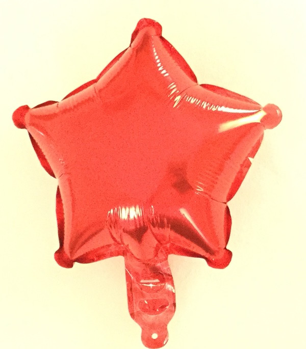 Шар в форме звезды Красный ; Размер: 10″