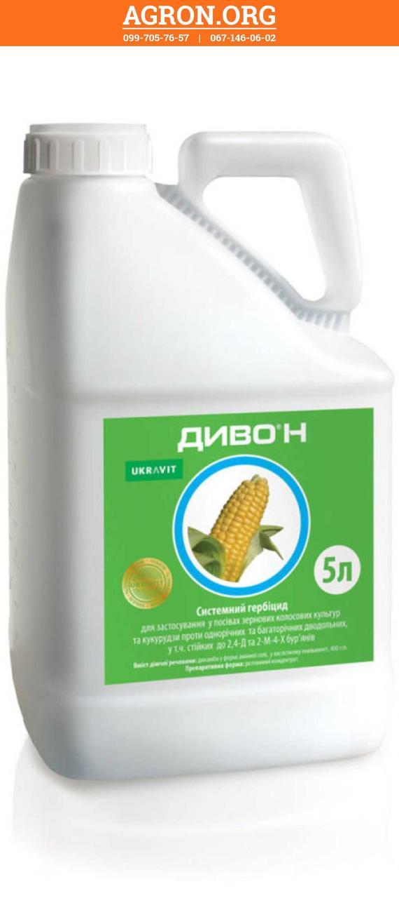 Диво Н гербицид по посівах кукурудзи Укравіт 5 л