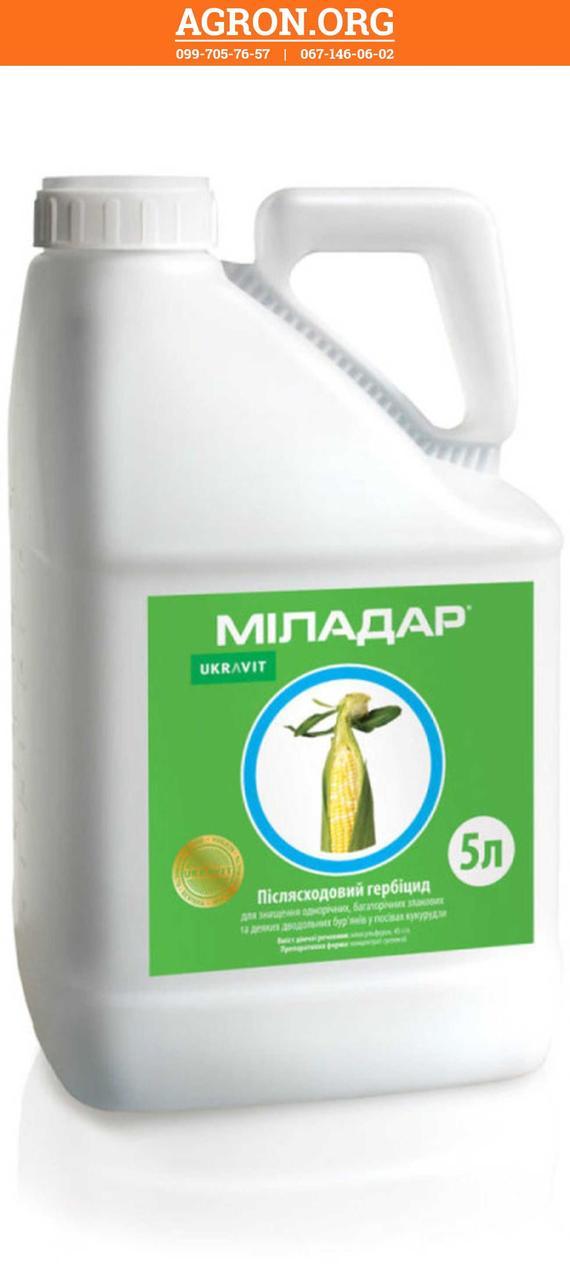 Міладар гербицид по посівах кукурудзи Укравіт 5 л