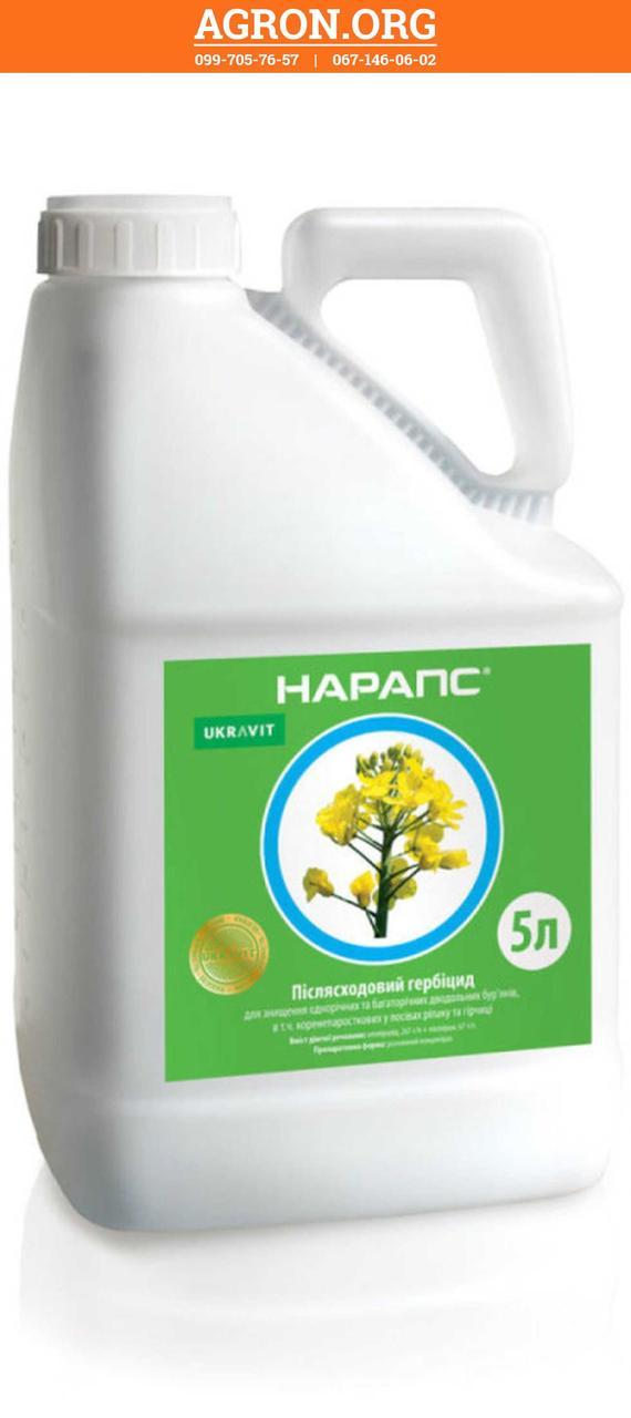 Нарапс гербицид по посівах ріпаку і гірчиці Укравіт 5 л