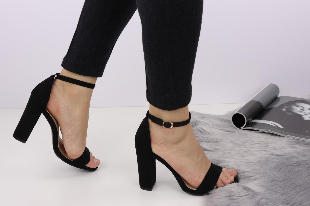 Женские стильные черные босоножки Milyro на каблуке Shoes 155-1122 - Bigl ua