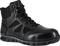 55f54bde Мужские ботинки Reebok Work Duty Sublite Cushion RB8606 Tactical Comp Toe  Boot Black Leather