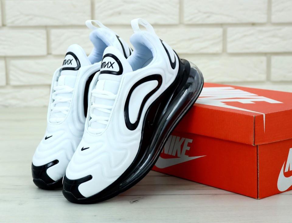 Мужские кроссовки Nike Air Max 720 White. ТОП Реплика ААА класса.