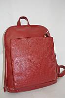 Рюкзак сумка городской женский красный кожзам 597