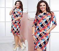 Женское миди-платье из костюмки фиолетовое 8169