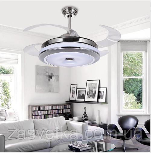Люстра вентилятор LED ART-6302-36BL (с динамиком)