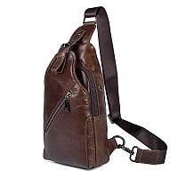Практичный повседневный кожаный рюкзак JD4014С на моношлейке