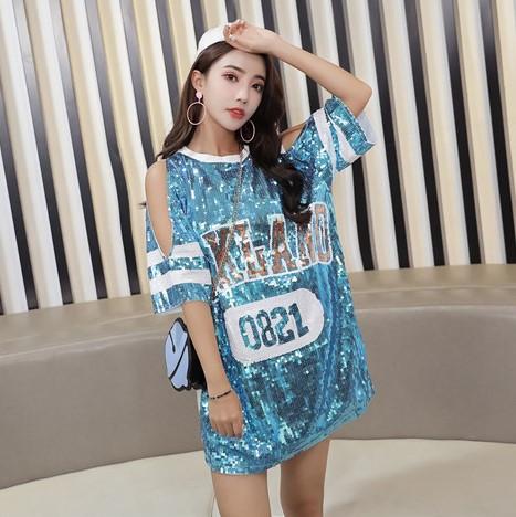 Женское платье туника  OAKLAND голубое