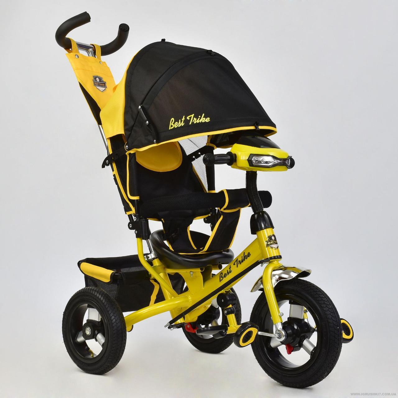 Детский трёхколёсный велосипед 6588В ЖЕЛТЫЙ