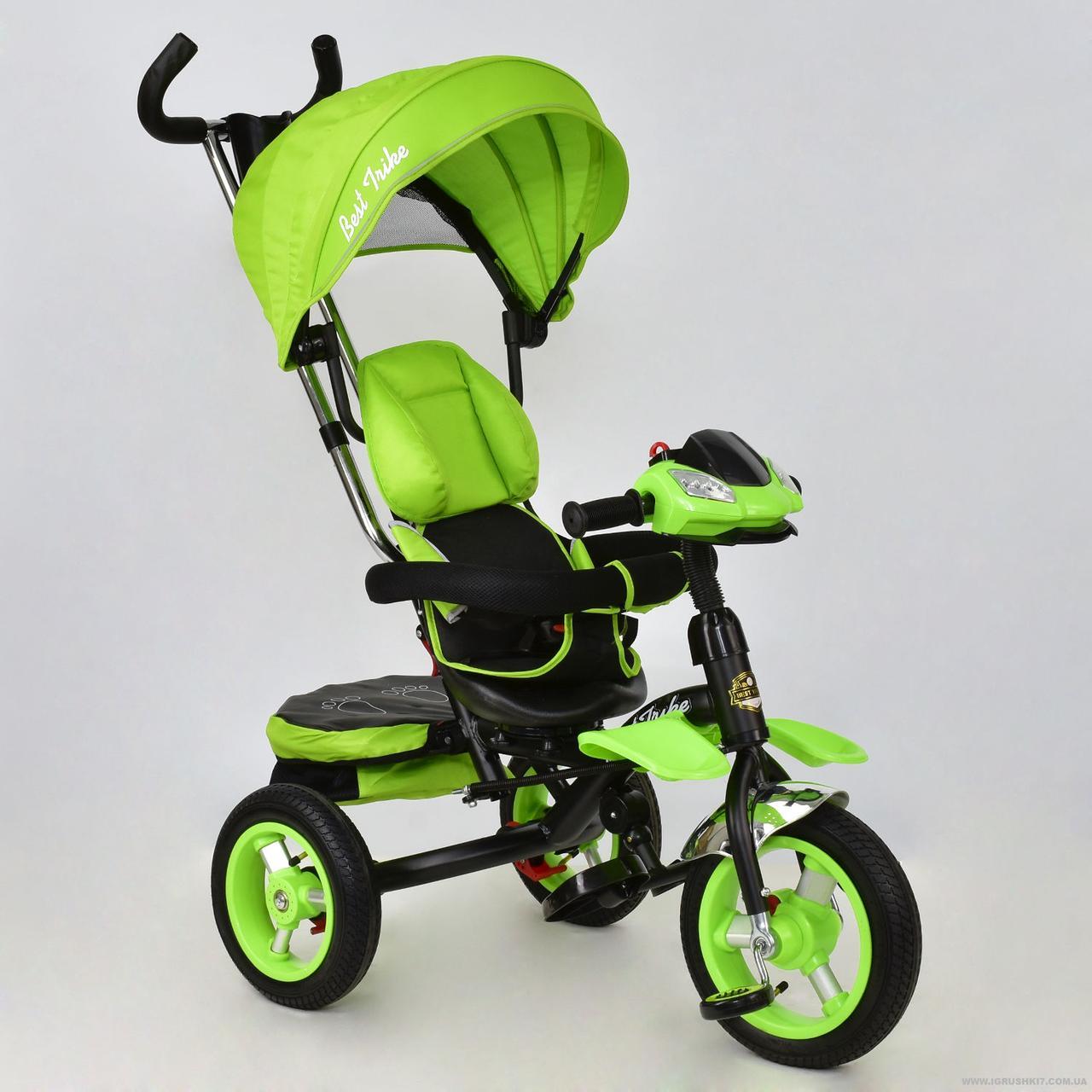 Детский трёхколёсный велосипед 6699 САЛАТОВЫЙ