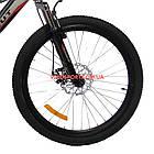 Подростковый велосипед Azimut Shock D 24 дюйма черно-красный, фото 3