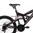 Подростковый велосипед Azimut Shock D 24 дюйма черно-красный, фото 4