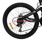 Подростковый велосипед Azimut Shock D 24 дюйма черно-красный, фото 5