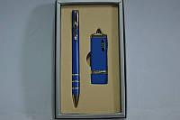 Набор подарочный ручка+флешка 13111 синяя