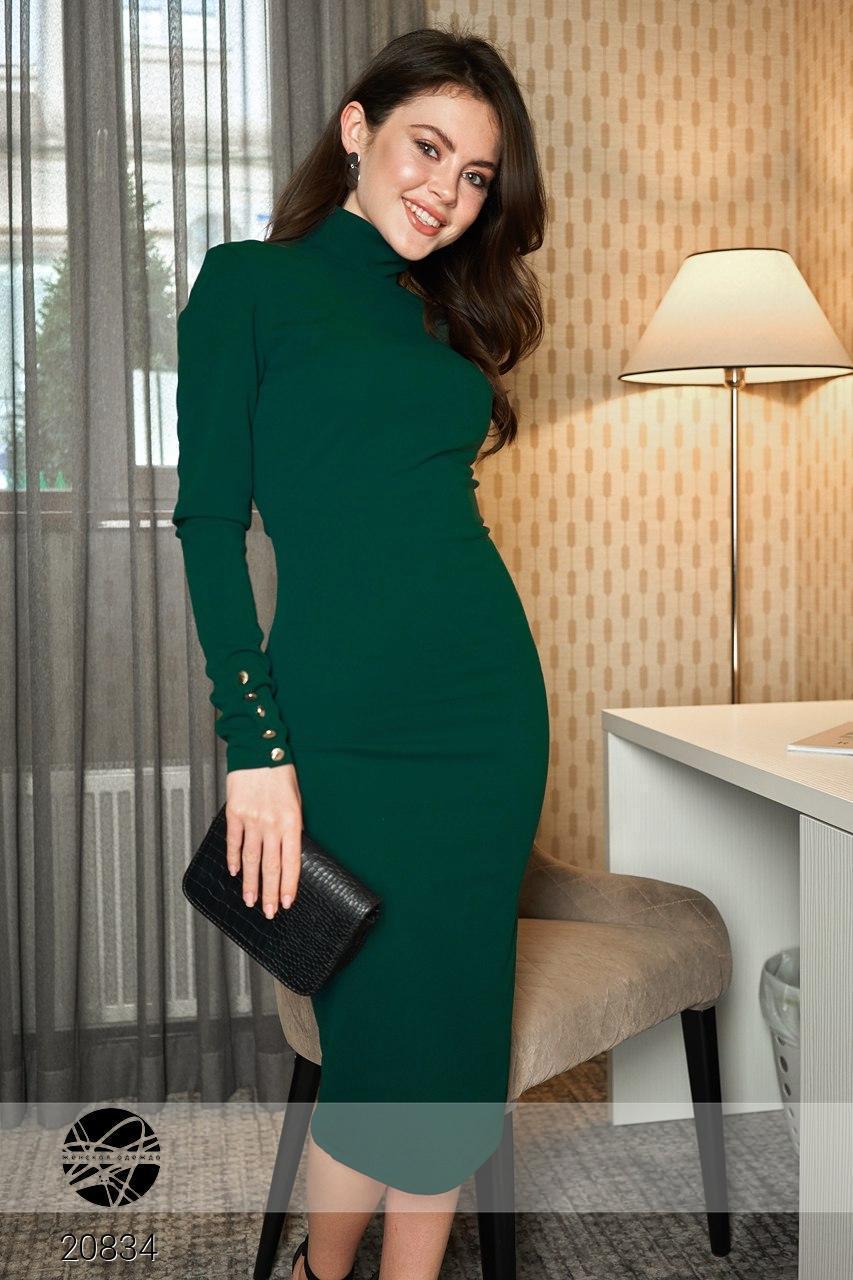 377e83a1bff2 Облегающее платье футляр миди с разрезом сбоку и открытой спиной, украшено  ...