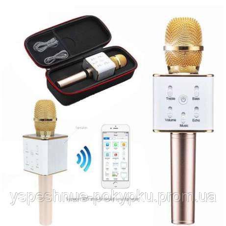 Портативный беспроводной караоке микрофон Q7, BLUETOOTH+КОЛОНКА