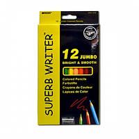 Цветные карандаши 12цвета Marco SuperbWrite Jumbo 4400-12CB (толстые)