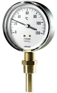 Термометр биметаллический радиальный Cewal RD 63 VI (Ø63mm 0-120°C L-50)