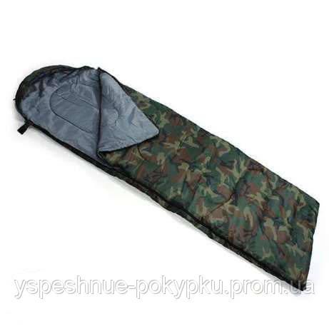 Спальник спальный мешок одеяло комуфляжный до -8°.