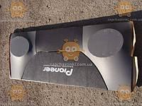 Полка Таврия ЗАЗ 1102 (под динамики) кожзаменитель Серо-черная (пр-во Россия) ПД 151069 (Все габариты на фото!)