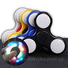 Светящийся спиннер Fidget Hand Spinner с LED подсветкой