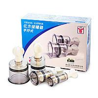 Массажные антицеллюлитные вакуумные банки с вентилем Yifang Cupper 12 шт