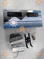 Фара противотуманная ДВОЙНАЯ! На 2 лампы! Универсальное крепление (в сборе 2шт) H3 12V 55W (пр-во Strohg Light Польша) Габариты: длина 135мм, высота