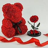 Мишка красный 40см в коробке, фото 2