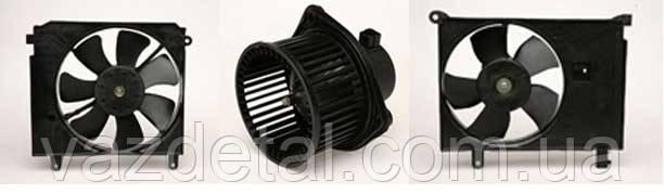 Вентилятор радіатора електричний ланос з діфузором (Luzar)