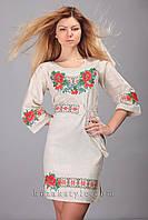 Жіноче плаття з вишивкою Маки калина